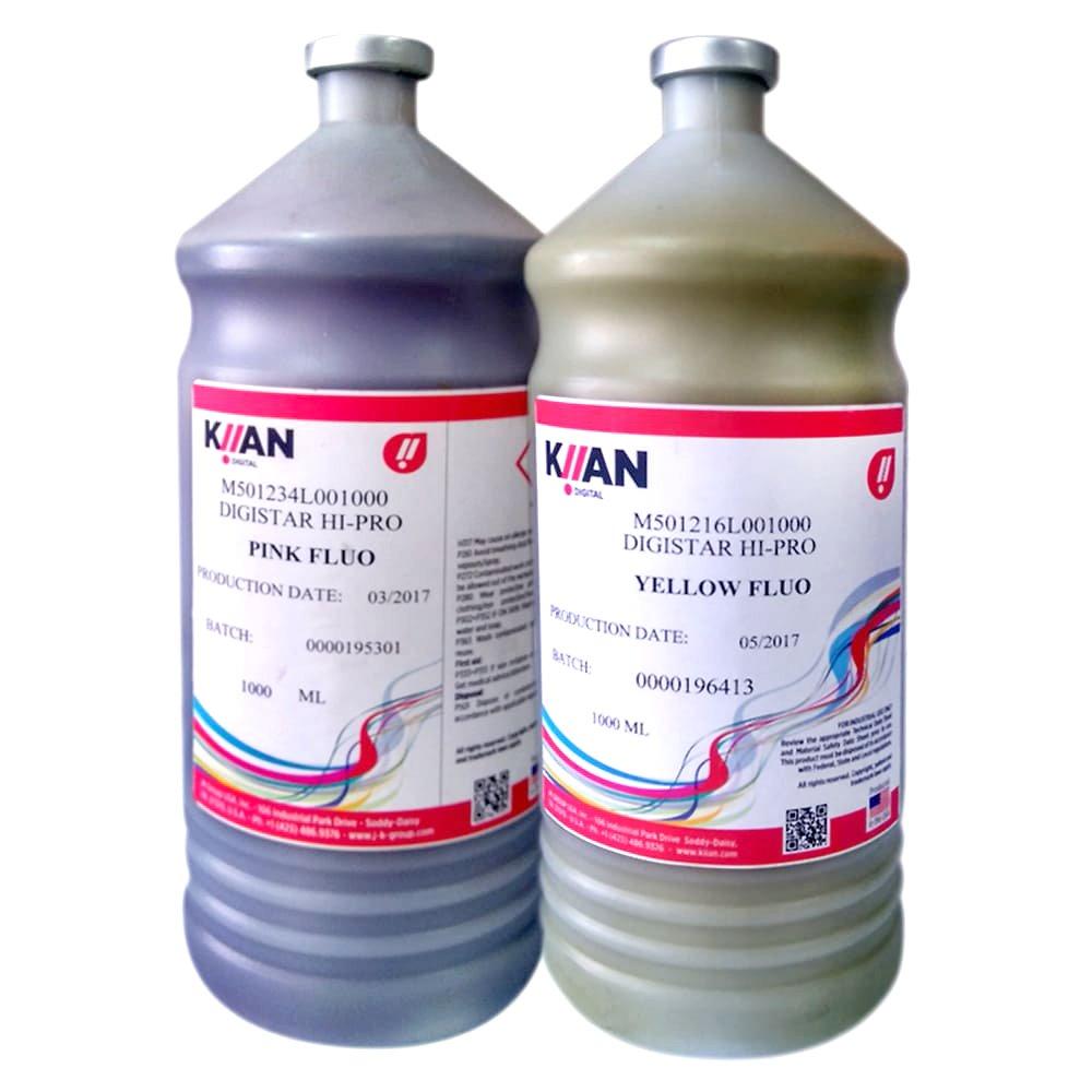 Tintas Kiian fluor para sublimación presentación 1l