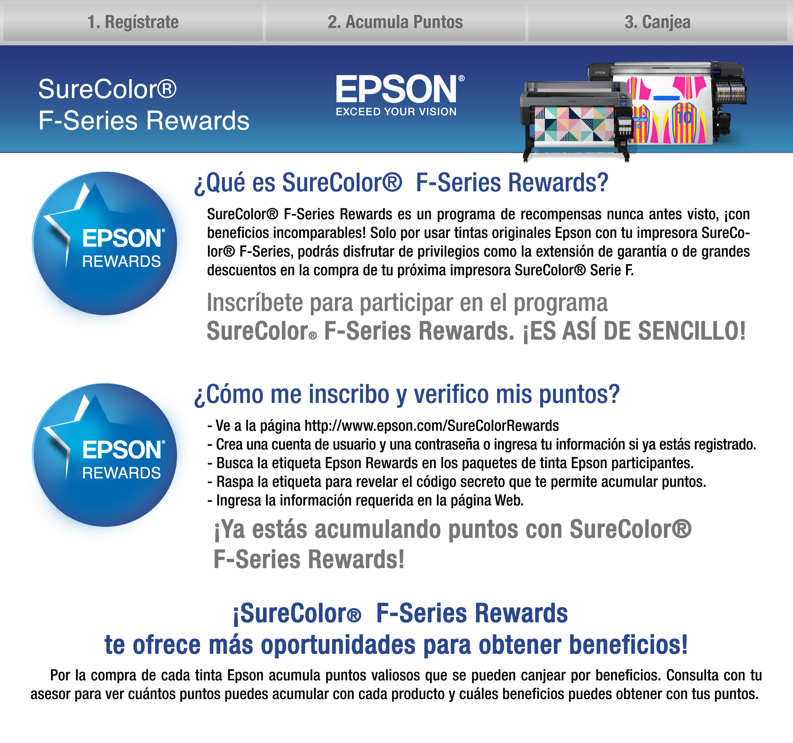 Programa epson rewards